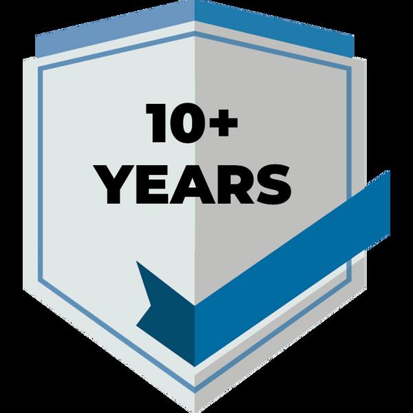 10+ ans expérience