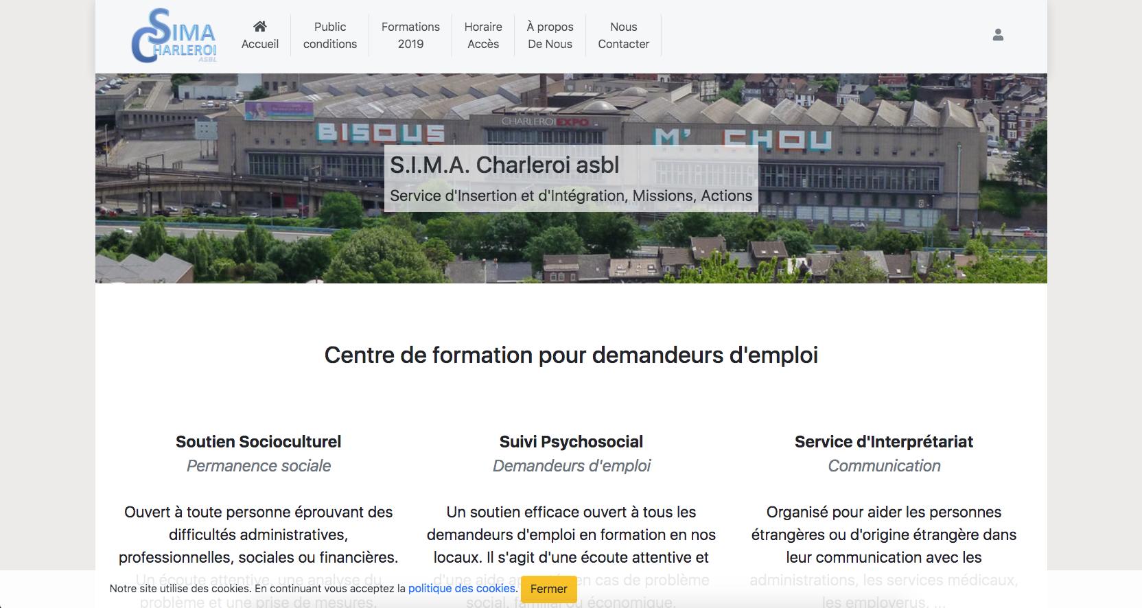 SIMA Charleroi - Centre de formation pour demandeurs d'emploi